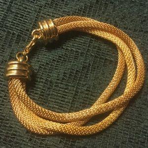 Jewelry - Triple Strand Gold Tone Mesh Bracelet